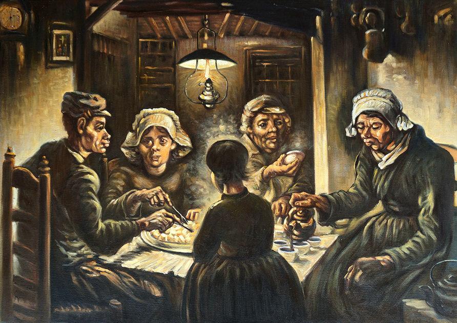 Znalezione obrazy dla zapytania vincent van gogh jedzący kartofle
